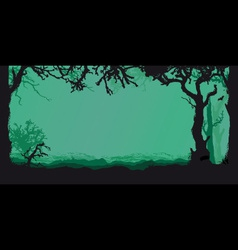 night forest vector image vector image