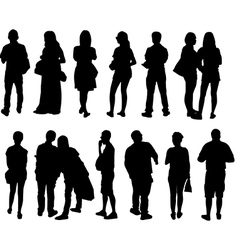 peoples vector image vector image