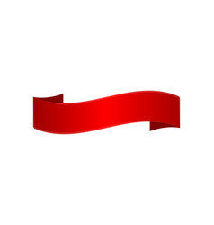 realistic red elegant ribbon isolated icon vector image vector image
