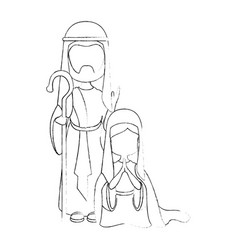 Saint joseph icon vector
