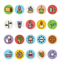 Spa colored icons 3 vector