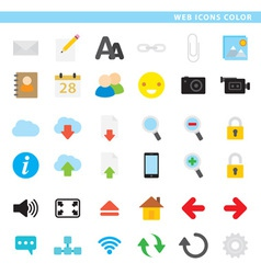 Web icons color vector