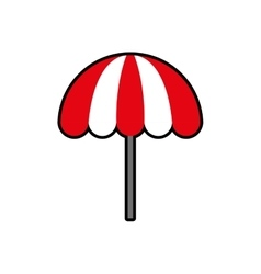 Umbrella striped summer vacation pool icon vector