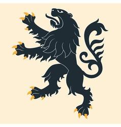 Heraldic lion 26 vector image