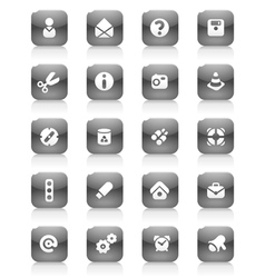 Black buttons miscellaneous vector