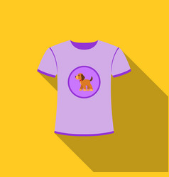 shirt i love dogs icon in flat style for vector image