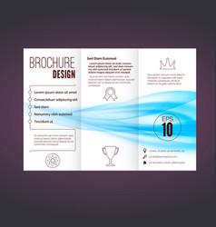 Refreshing speed blue swoosh wave brochure vector