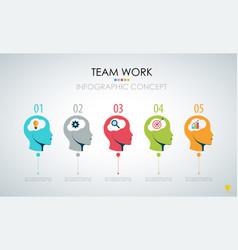 Info graphic teamwork business concept vector