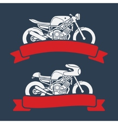 Motorcycle logo set vector