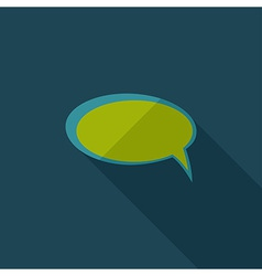 Flat Comic Speech Bubbl vector image