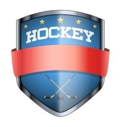 Hockey shield badge vector