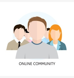 Online community icon flat design vector