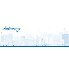 Outline anchorage alaska vector