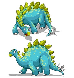 Blue dinosaure with spikes tail vector