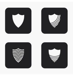 Modern shield icons set vector