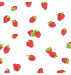Bright strawberries background vector