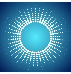 Abstract bright dotted sun background vector image