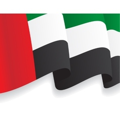 Background with waving uae flag vector