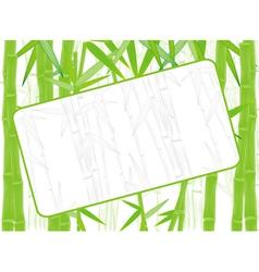 bamboo frame vector image
