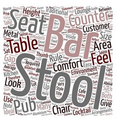 Bar stools a buyers guide text background vector