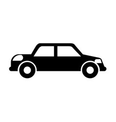 Black icon car vector