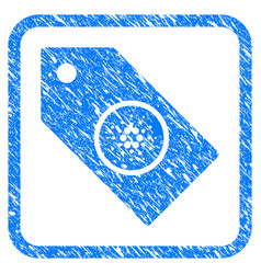 Cardano tag framed stamp vector