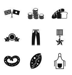 Church donation icons set simple style vector
