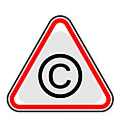 Copyright sign triangular sticker vector