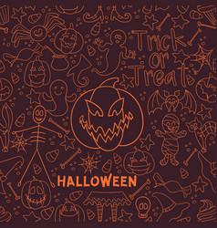 dark halloween seamless patterns endless vector image