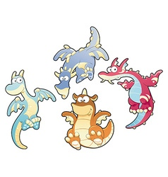 Dragons family vector