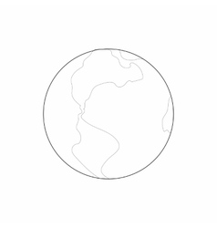 Earth icon in outline style vector image vector image