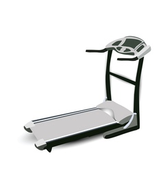 fitness walking machine vector image vector image