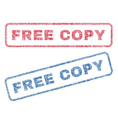 free copy textile stamps vector image vector image