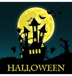 Happy Halloween Card Template vector image