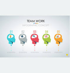 info graphic teamwork business concept vector image vector image