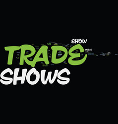 Kw trade shows text background word cloud concept vector