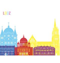 Lodz skyline pop vector