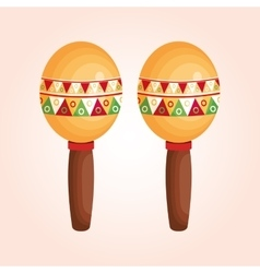 mexican maracas isolated icon vector image vector image