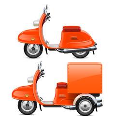 orange scooters vector image vector image