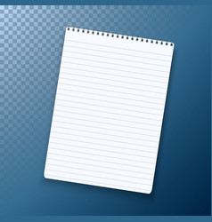 photorealistic paper notebook template vector image vector image