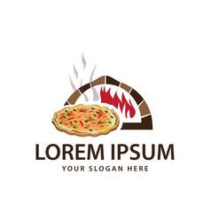pizza shop logo vector image