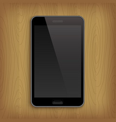 realistic phone on table vector image