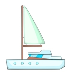 Sea yacht icon cartoon style vector image