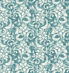 Seamless beige floral pattern in the style of vector image