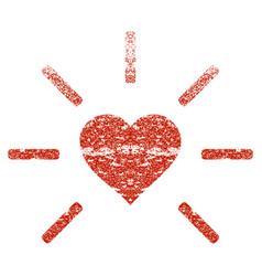 Shine heart grunge texture icon vector