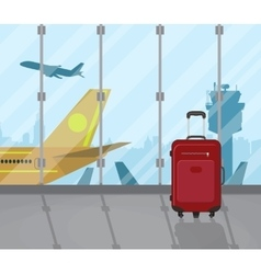 Travel suitcases inside of airport vector image vector image