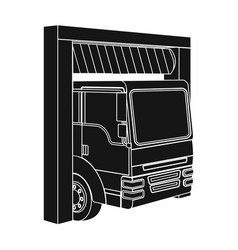 Truck entrance to the station single icon in black vector