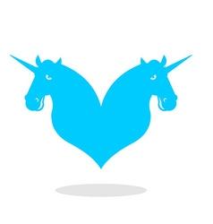 Unicorn love logo lgbt symbol community sign of vector