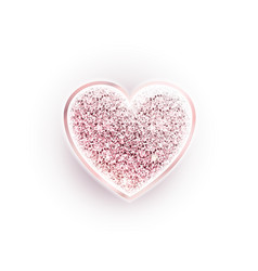 valentines day glitter pink heart vector image vector image