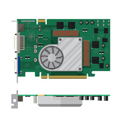 Video card isolated on white vector